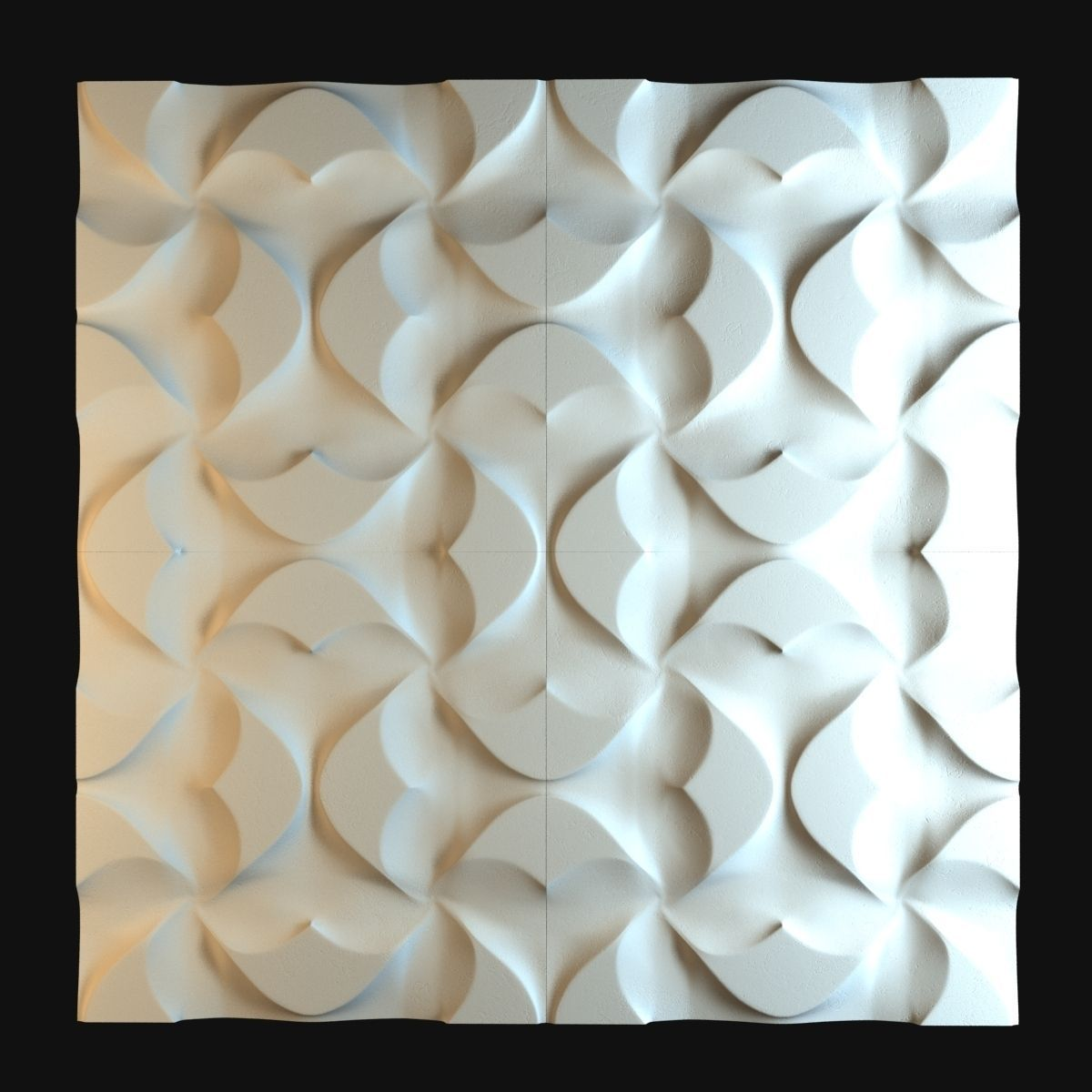 Petra Caleido 3d Wall Tiles Model Max Obj 3ds Fbx Mtl Unitypackage 1