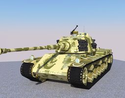 3D model Tiger II Tank