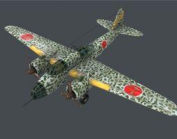 3D model Japanese Ki48 Lily Bomber Kawasaki Ki-48 type 99