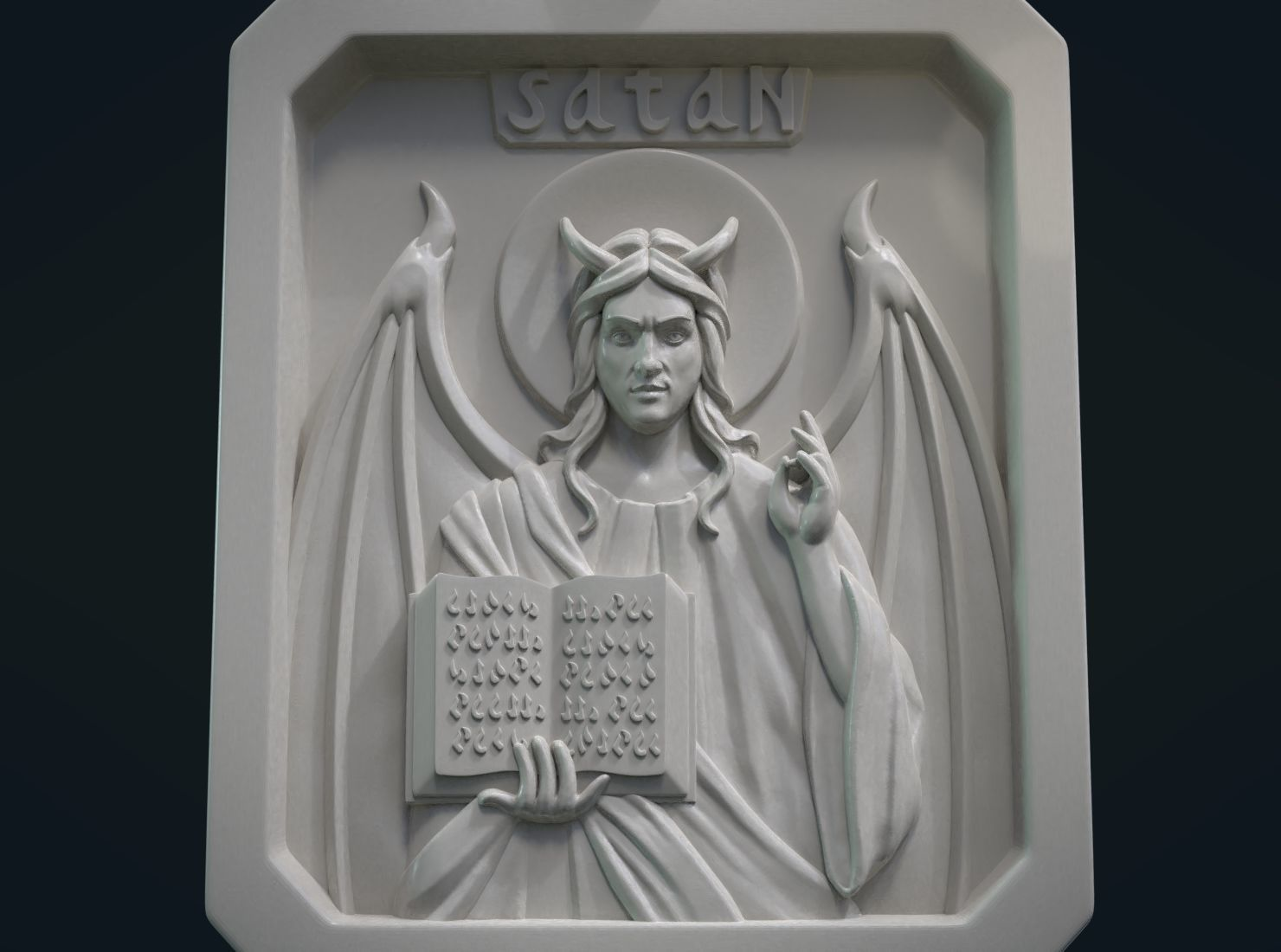 Satan Relief and Pendant