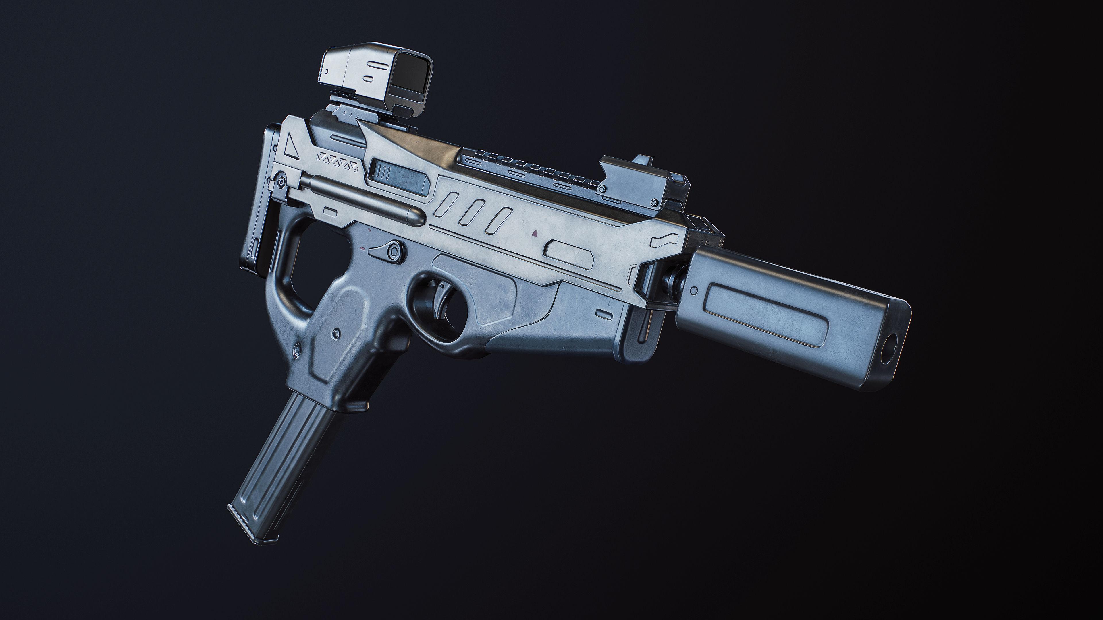 SMG gun SCI-FI