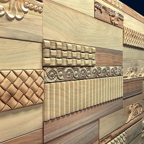 Wanderwall phoenix 3d wall wood tiles 3d model max obj fbx for 3d outdoor wall tiles