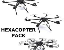 hexacopter pack 3d model obj fbx dxf stl blend