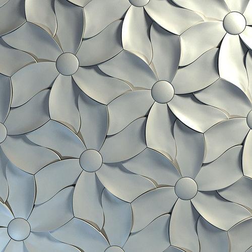 3d Tiles Kaza Concrete Petal 3d Model Max Obj 3ds Fbx