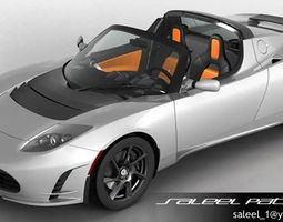 3D model Tesla Roadster 2