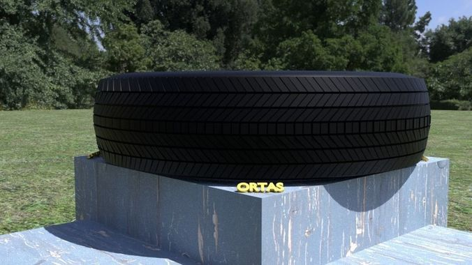 ortas tire no 3 3d model obj mtl fbx stl 1