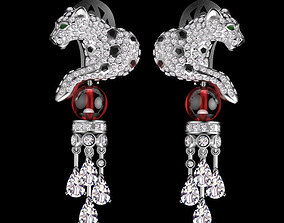 panther earring jewelry jaguar 3D print model
