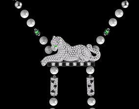 panther pendant 3D print model puma