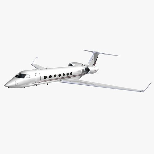 gulfstream 550 netjets europe 3d model animated max obj mtl 3ds lwo lw lws hrc xsi dxf 1