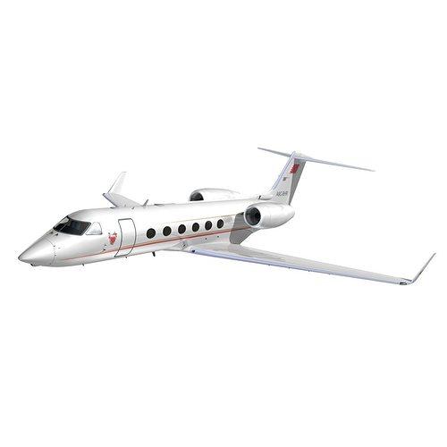 gulfstream 450 bahrain royal flight 3d model animated max obj mtl 3ds lwo lw lws hrc xsi dxf 1