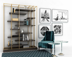 Eichholtz furniture set 3D model