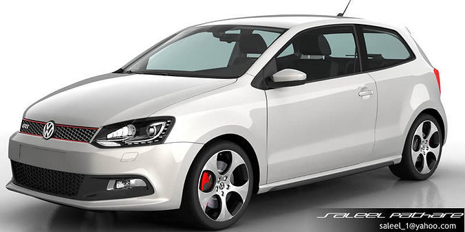 model volkswagen polo  cgtrader