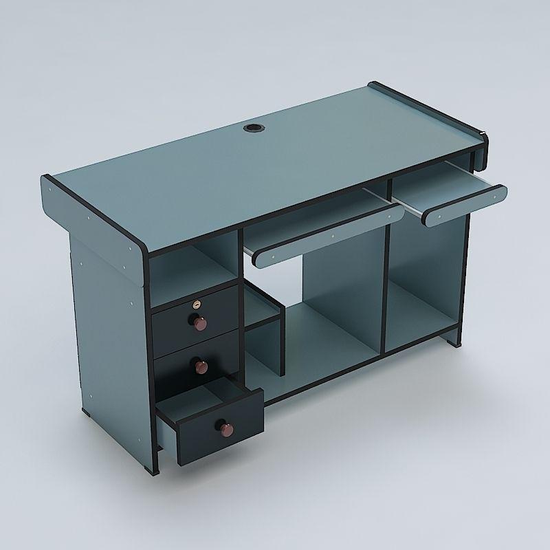 Computer table 01 3d model max obj 3ds fbx lwo lw lws mtl for Table 3d model
