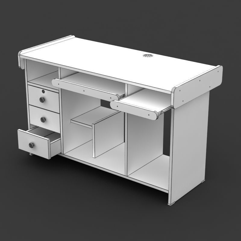 comments 0 computer table 01 3d model high quality computer table