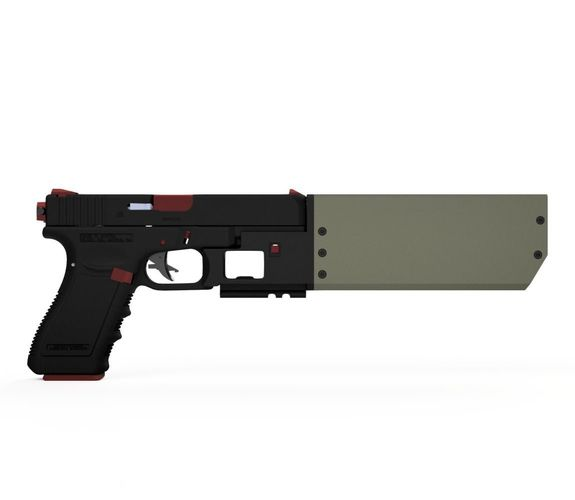 airsoft version of fd917 suppressor for glock 3d model stl 1