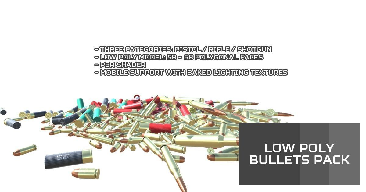 Low Poly Bullets Pack