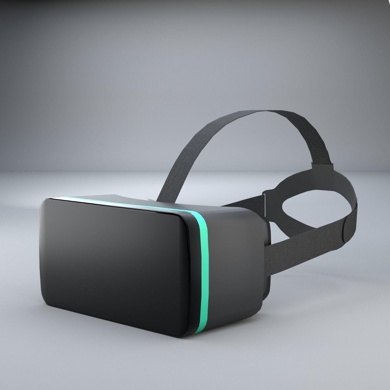 3D Simple VR Headset Free Model   CGTrader