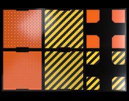 3D model Futuristic Floor Textures PBR