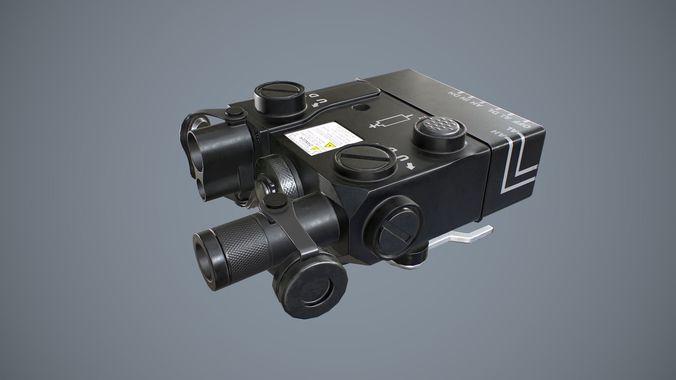 aiming laser dbal-a3 3d model low-poly obj mtl fbx tga 1