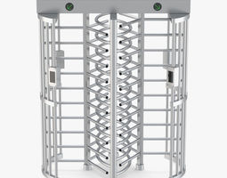 3D model Turnstile Dual Gate Full Height