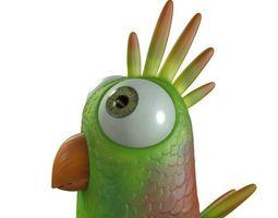 3d model cartoon bird character rigged