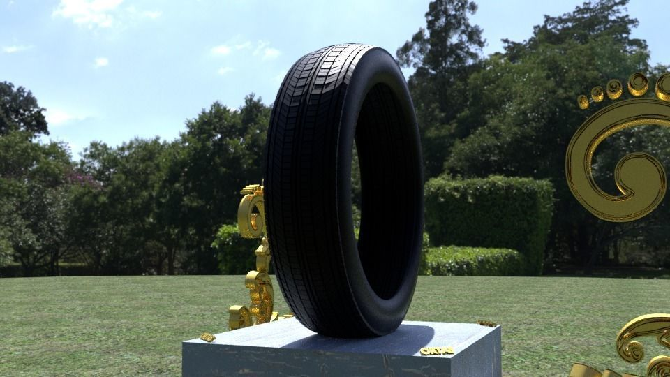 ORTAS TIRE NO 7 GAME READY AND 3D PRINTABLE
