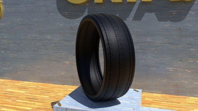 ortas tire no 17 game ready and 3d printable 3d model obj mtl fbx stl 1