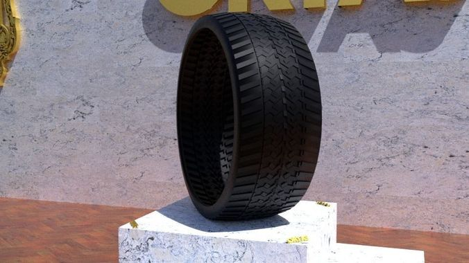 ortas tire no 42 game ready and 3d printable 3d model obj mtl fbx stl 1
