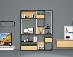 led TV cabinet 3D