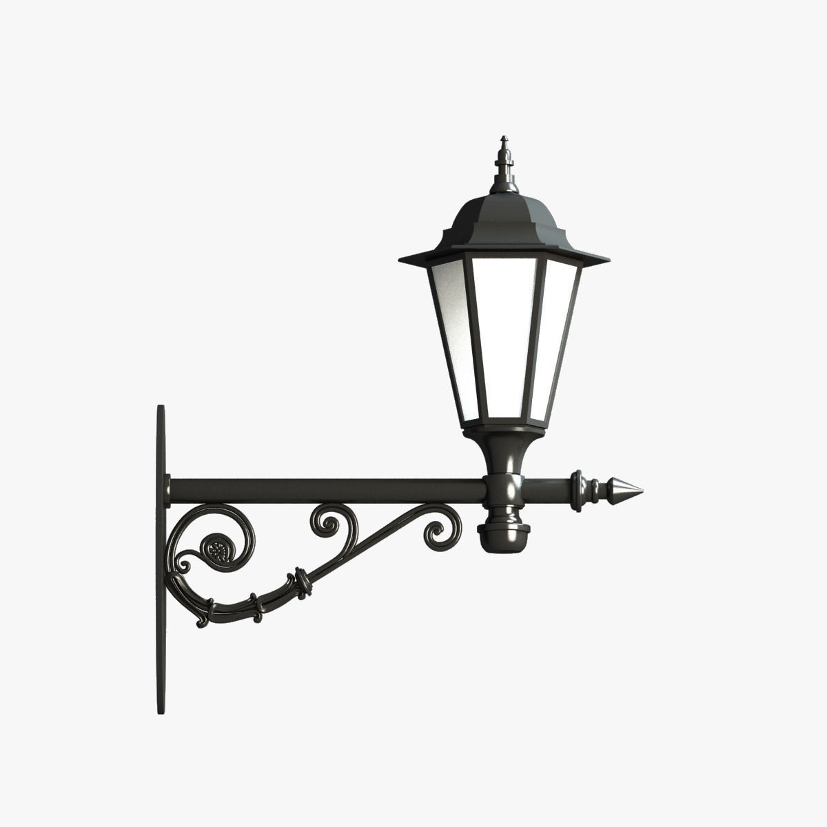 3D model Classic Street Wall Lantern 4   CGTrader for Classic Street Lamp  568zmd