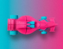 source files Mach Lander 3d printable car transformer