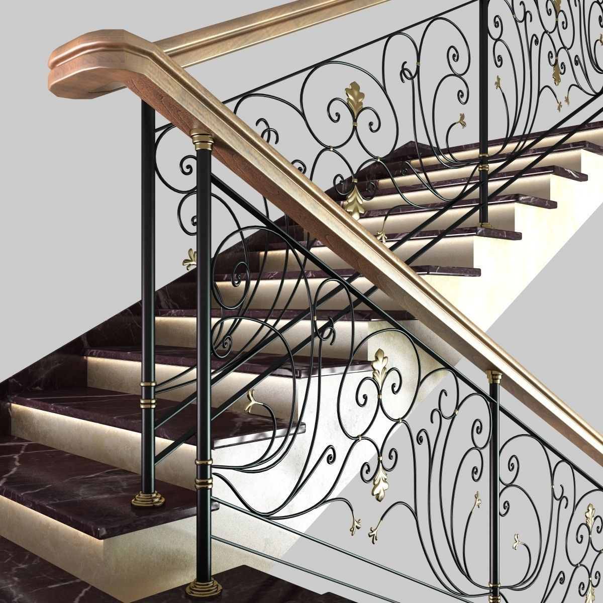 ... Classic Marble Stairs 3d Model Max Obj Mtl 3ds Fbx Unitypackage Prefab 8