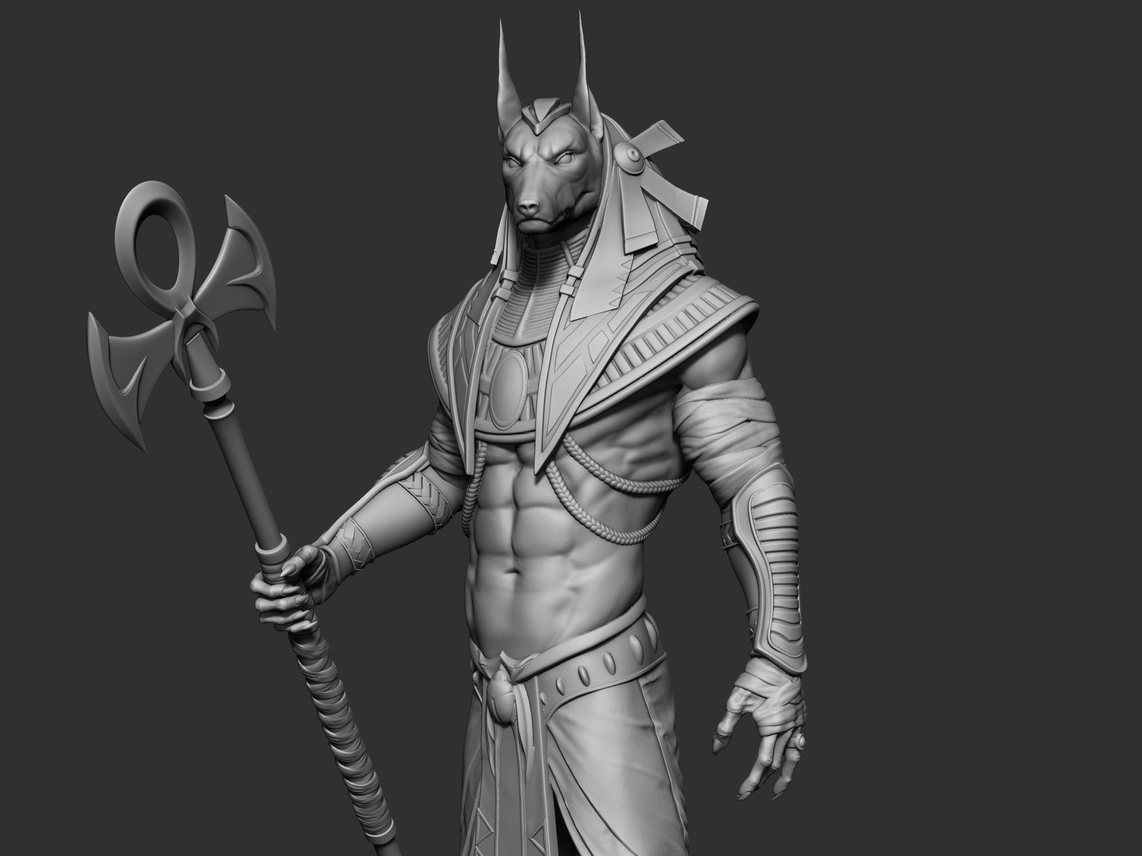 Anubis 3D Print Model