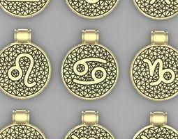 pendant zodiacs 3D printable model