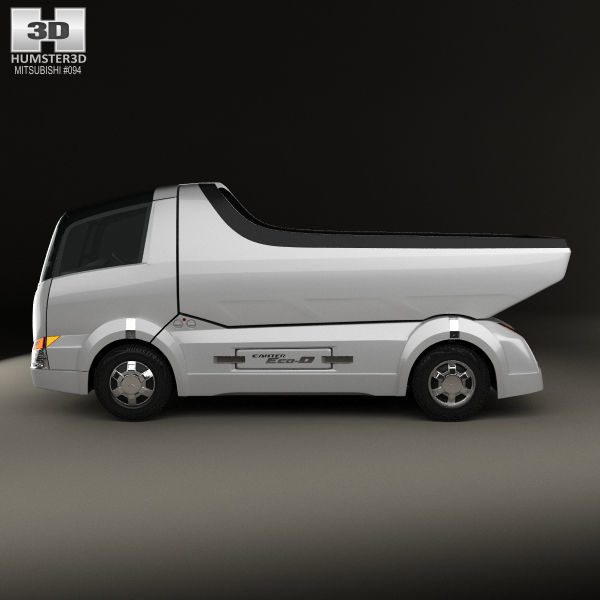 Mitsubishi Fuso Canter Eco D Hybrid Truck 2007 3D model