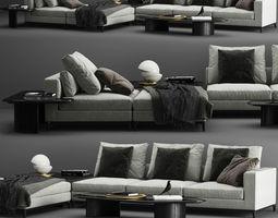 3D model Minotti Andersen Sofa C
