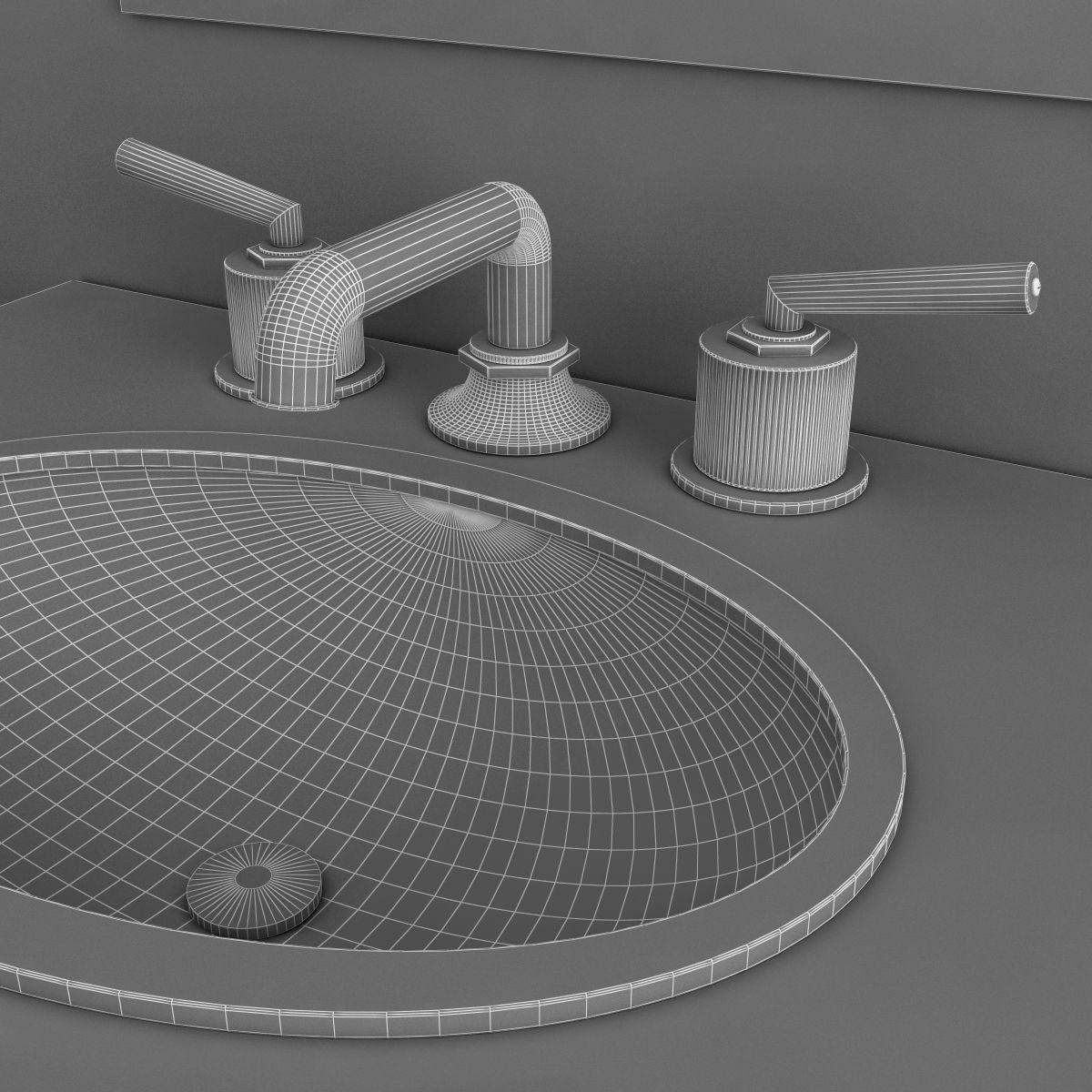 ... Waterworks Bathroom Furniture Set 3d Model Max Obj Mtl 3ds Fbx 5 ...