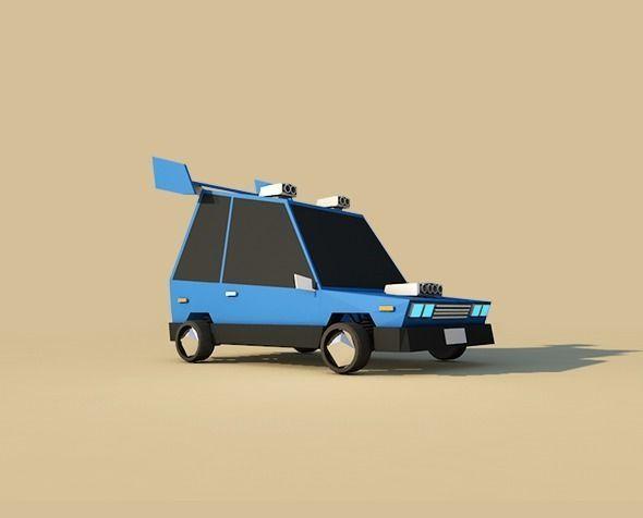 Cartoon Low Poly Sport Car
