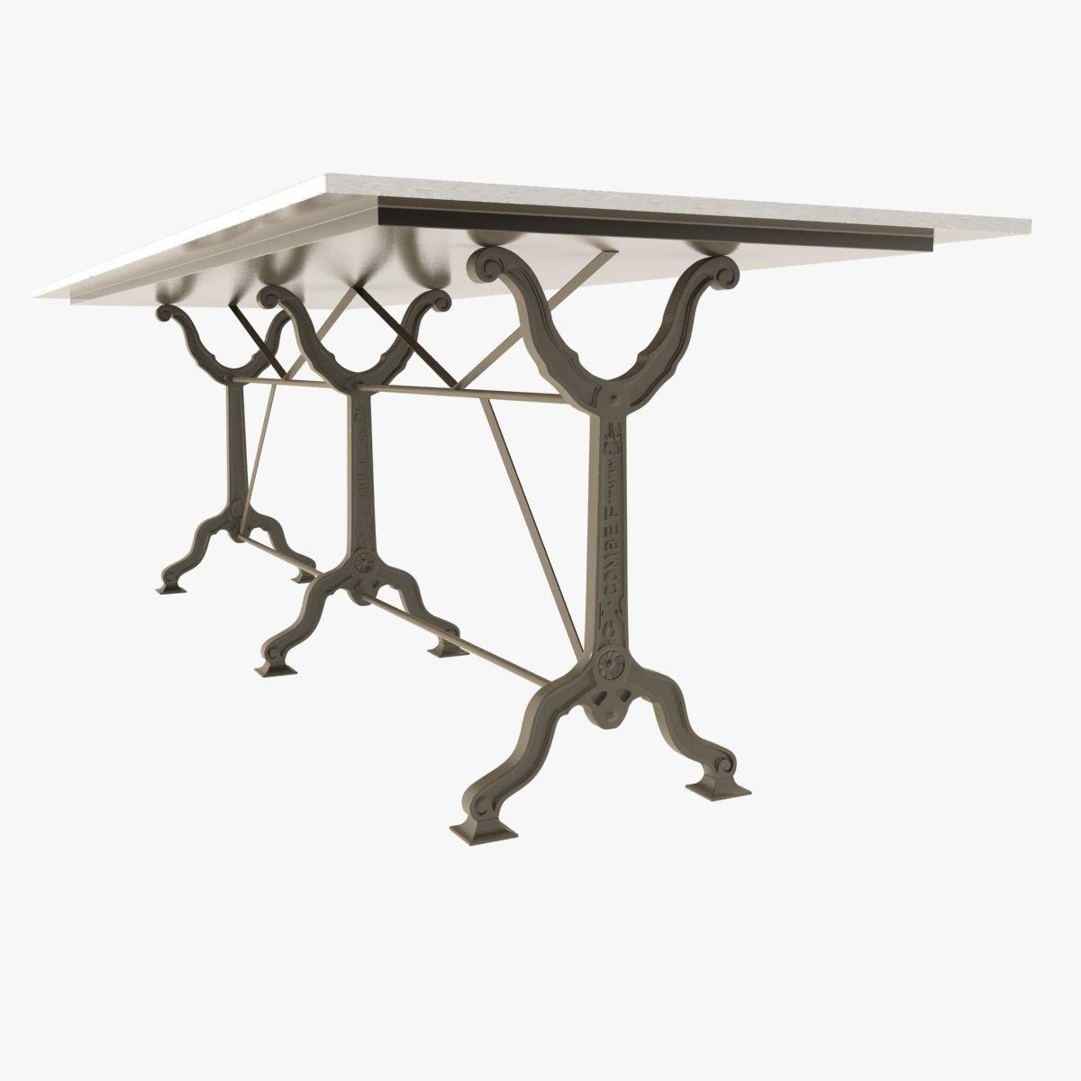 Restoration Hardware Factory Zinc Cast Iron Dining Tables Model