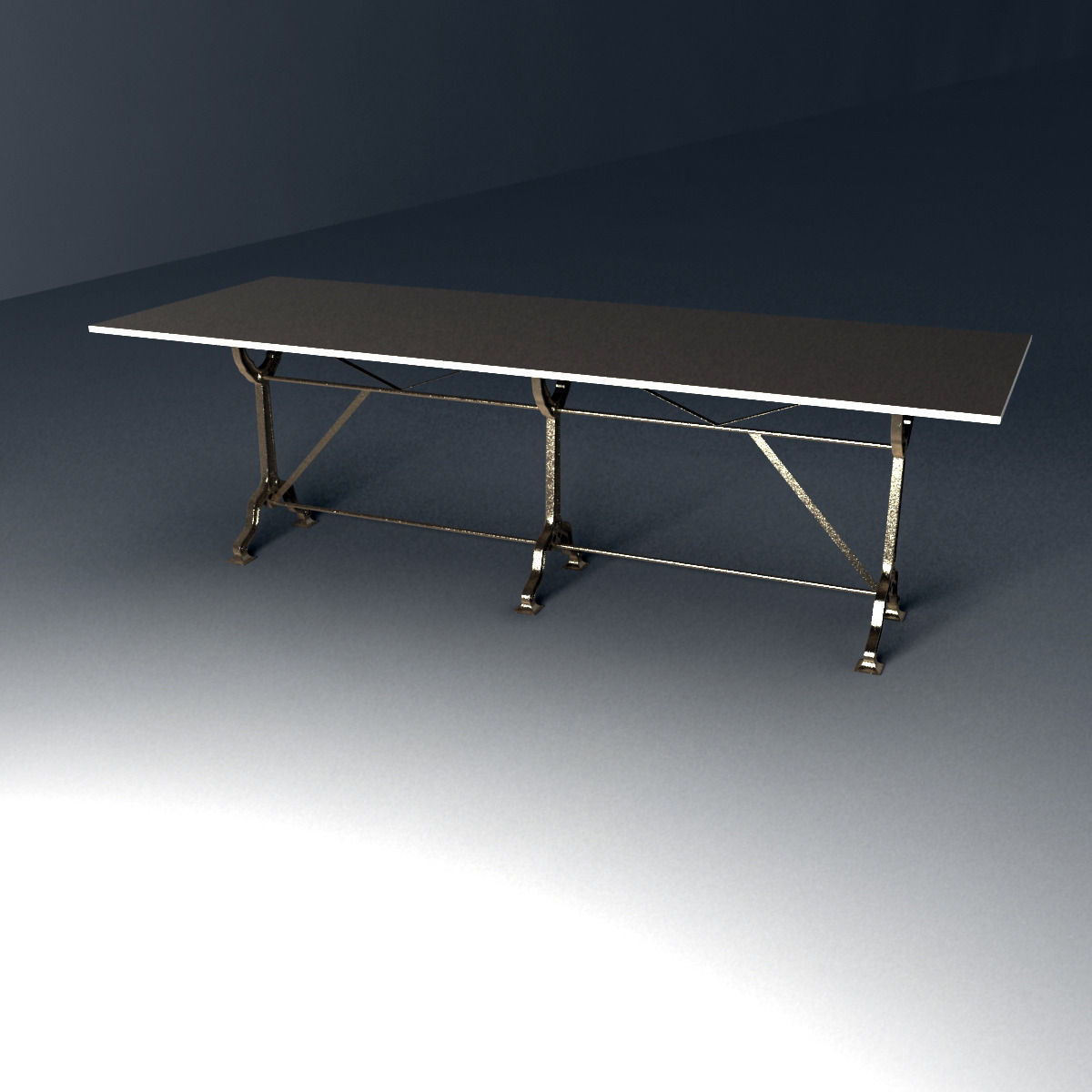 Brand New Cast Iron Trestle Table Base Am94 Advancedmassagebysara