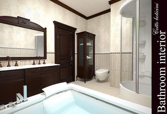 cotto boticini bathroom 3d model max 1