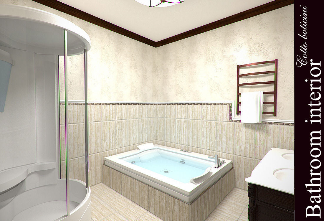 Bathroom 3D Model Cotto Boticini Bathroom 3D  Cgtrader