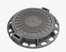 cast iron hatch 3D