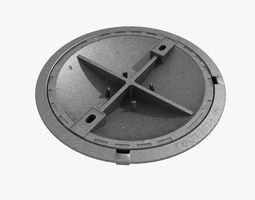 cast iron hatch 5 3D