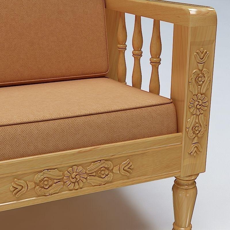 ... Sofa Set Wooden 3d Model Max Obj Mtl 3ds Fbx Lwo Lw Lws 7 ...