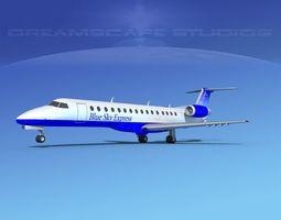 3D model Embraer ERJ-140 Blue Skies Express