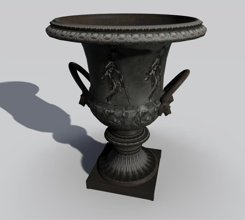 Roman Garden Vase 3d Model 3ds Dxf Dae Skp 1 ...