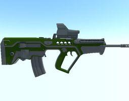 assault rifle 3D model game-ready