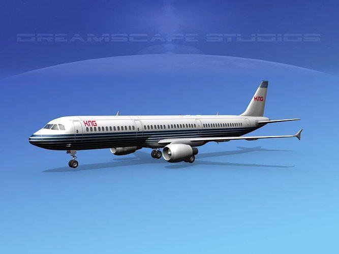 airbus a321 kng 3d model max obj mtl 3ds lwo lw lws dxf stl 1