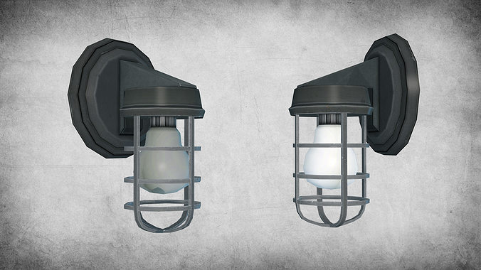 light fixture 01 3d model low-poly max obj mtl fbx w3d 1